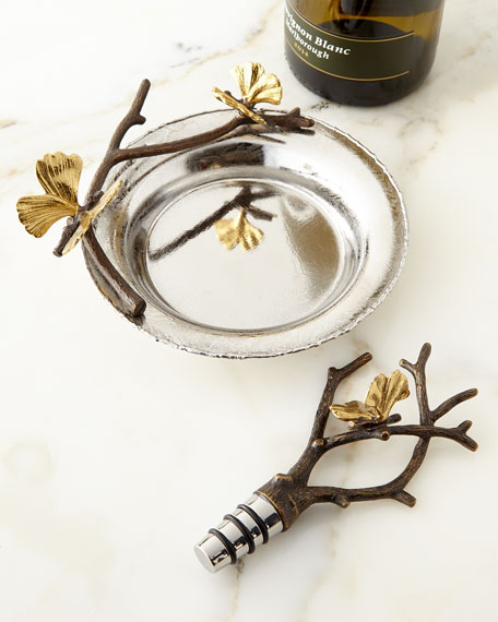 Michael Aram Butterfly Gingko Wine Stopper & Coaster