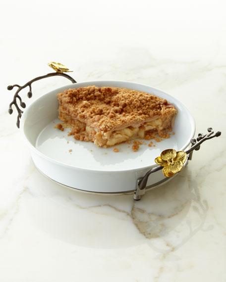 Michael Aram Gold Orchid Pie Dish
