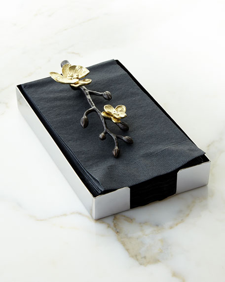 Gold Orchid Guest Towel Holder