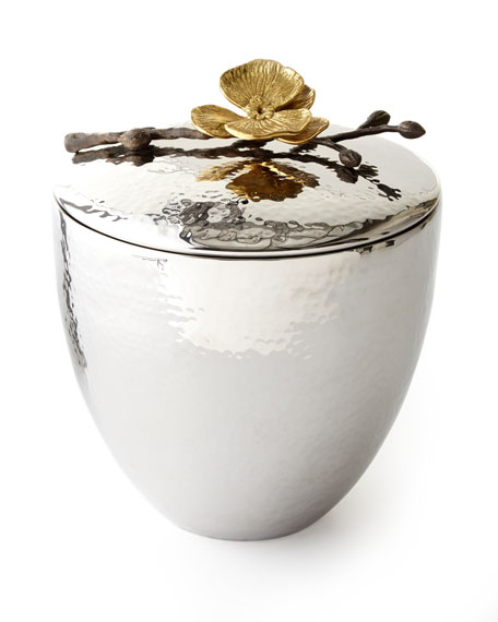 Michael Aram Gold Orchid Ice Bucket & Scoop