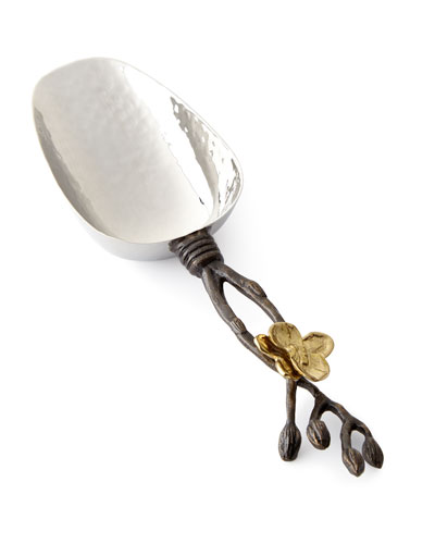 Gold Orchid Ice Scoop