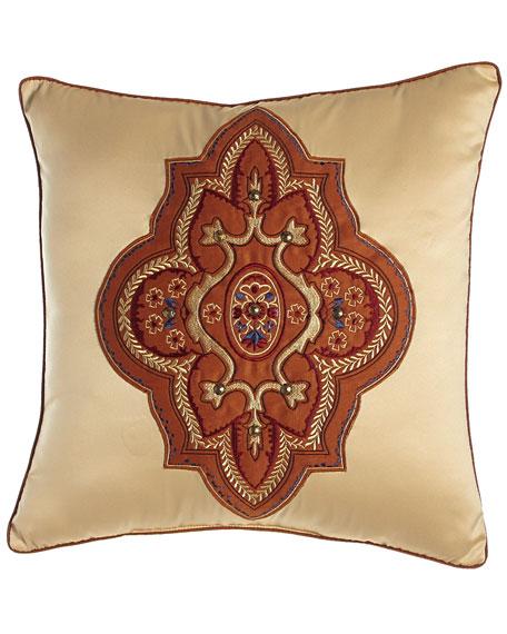 "Grantham Applique Pillow, 16""Sq."