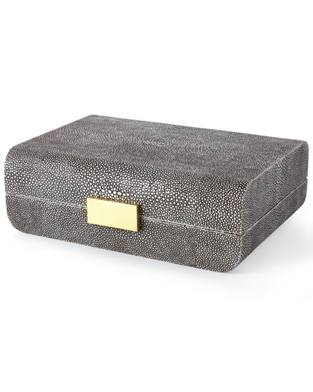 AERIN CHOCOLATE SHAGREEN SM.