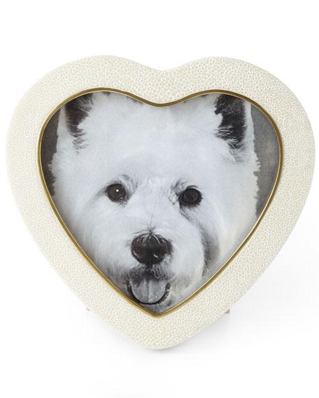 AERIN Shagreen Heart Frames