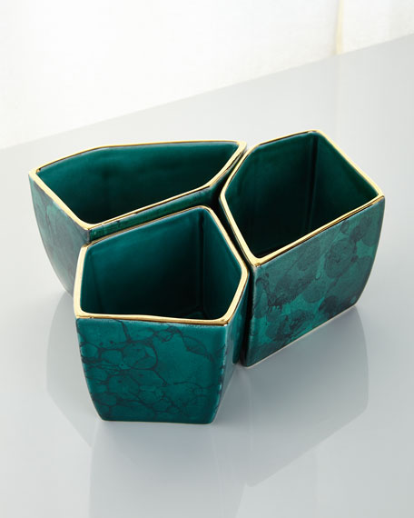 Geo Bowls, 3-Piece Set