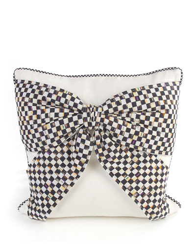 White Bow Pillow