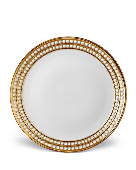 L'Objet Perlee Gold Dinner Plate