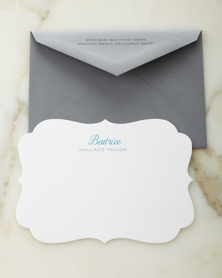 Carlson Craft Crest Personalized Cards with Colored Envelopes