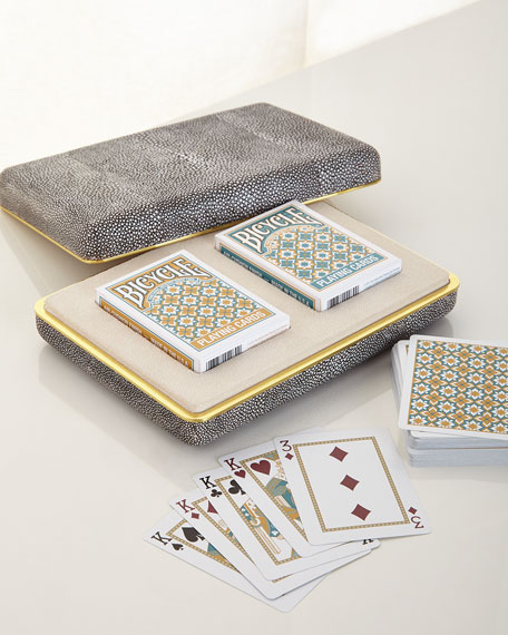 AERIN Chocolate Shagreen Card Set