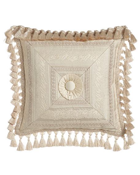 Cameo Mitered Stripe Pillow, 17