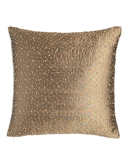 "Vienna Beaded Pillow, 17""Sq."