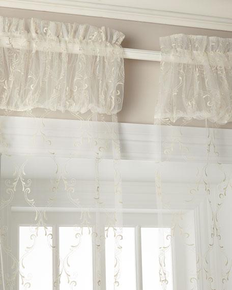 "60""W x 108""L Cameo Lace Curtain"