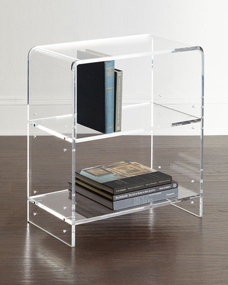 Everly Acrylic Bookcase Neiman Marcus
