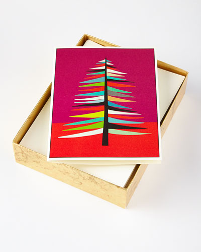 10 Tree Cards with Lined Envelopes