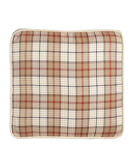 French Laundry Home Kent Wood Plaid Box Pillow,