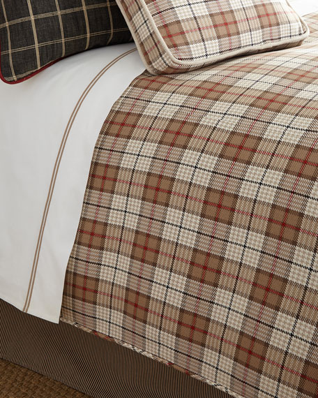 French Laundry Home Queen Kent Wood Plaid Duvet