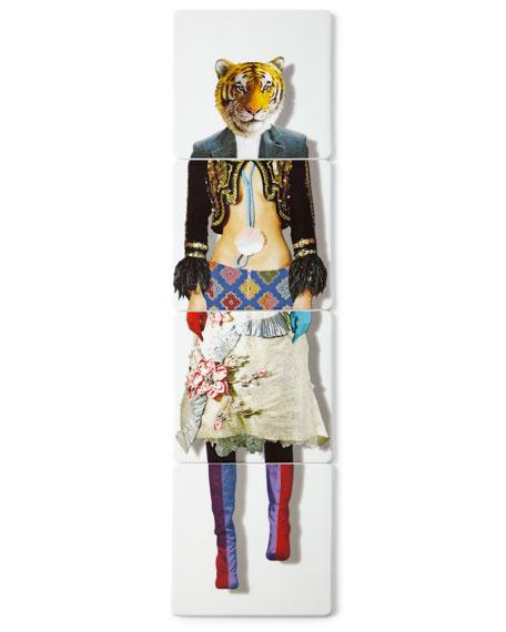 Christian Lacroix Tiger Coasters, 4-Piece Set