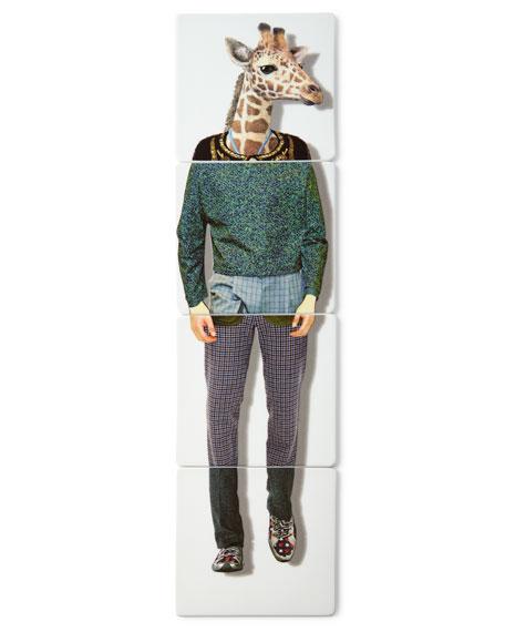 Christian Lacroix Giraffe Coasters, 4-Piece Set