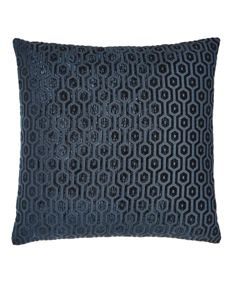 "Brody Peacock Pillow, 20""Sq."