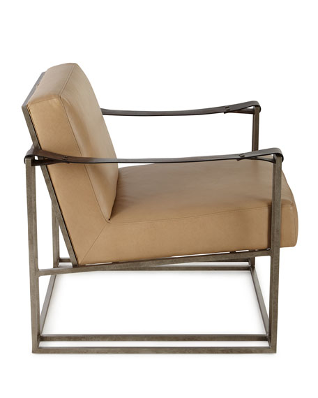 Declan Tan Leather Chair