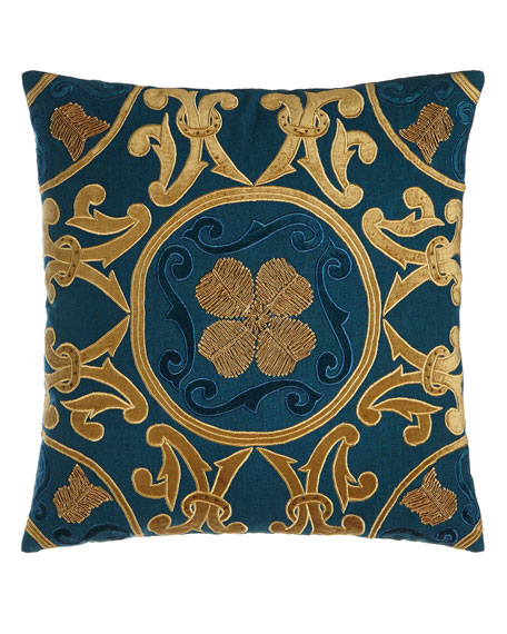 "Madonna Medallion Pillow, 22""Sq."
