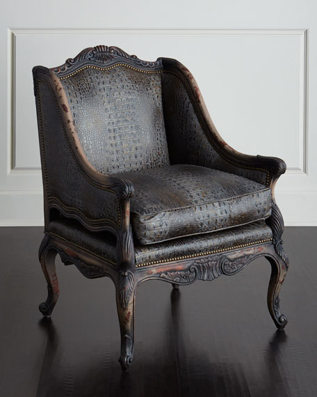 Drizzle Gray Leather Chair