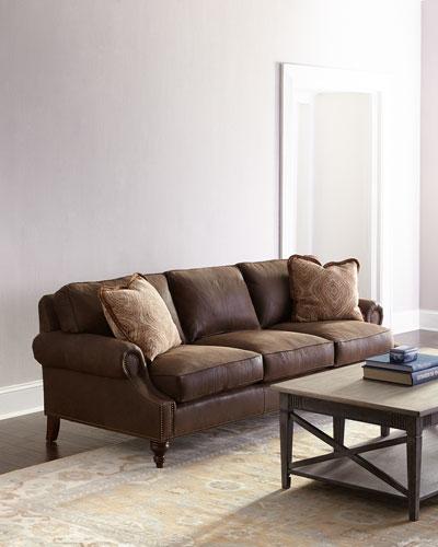 Janis Leather Sofa