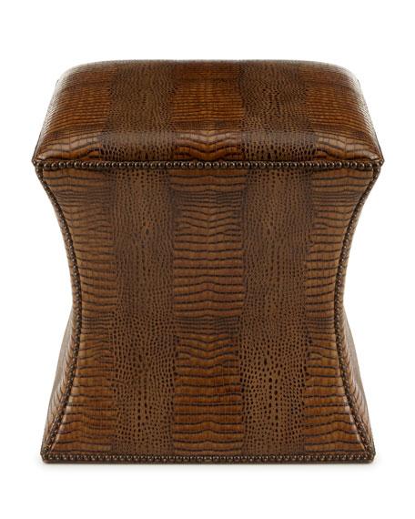 Cara Mia Leather Ottoman