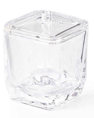 Clear Glass Covered Jar