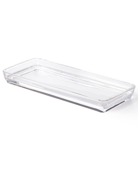 Waterworks Studio Clear Glass Vanity Tray