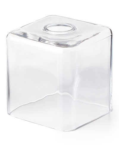 Clear Glass Tissue Box Cover