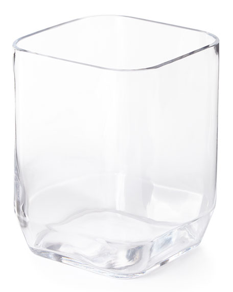 Clear Glass Wastebasket