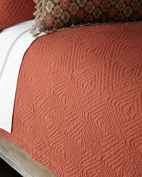 Pine Cone Hill Queen Anatolia Kerala Spice Matelasse