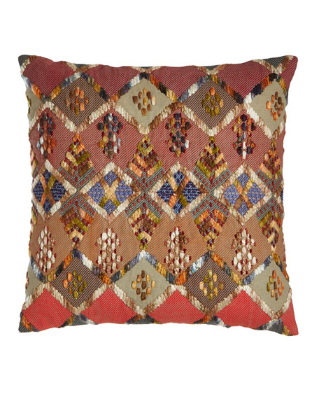 Pine Cone Hill Anatolia Embroidered Kenya Pillow, 20