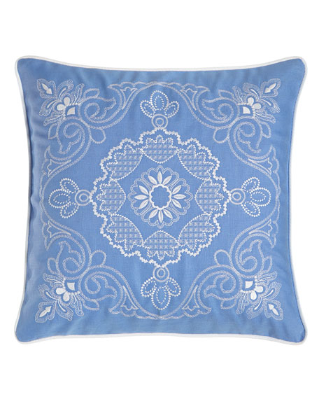"20""Sq. Plumes Ella Medallion Pillow"