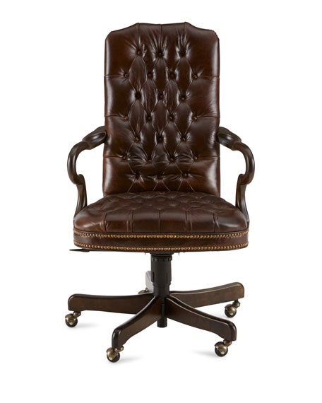 lexington modern white leather office chair tufted brown amazon black without wheels