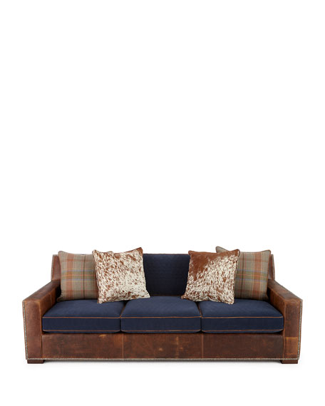 Darlene Leather Sofa 101""