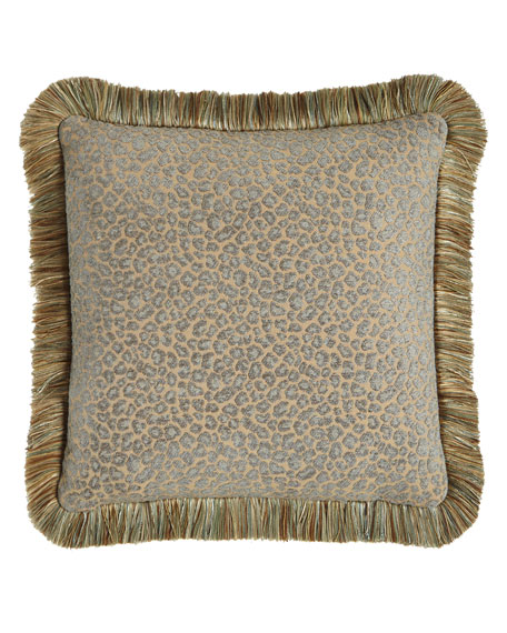 Reversible Animal Pillow : Sweet Dreams Reversible Aquitaine Pillow with Fringe, 18