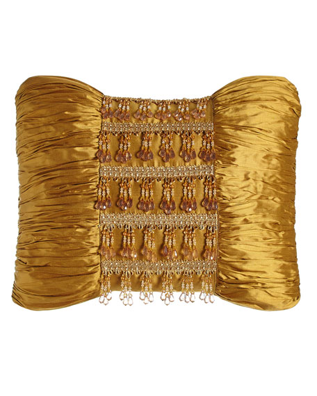 Austin Horn Classics Royale Gold Silk Pillow with