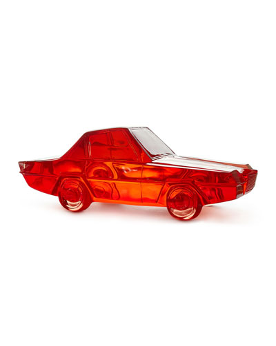 Red Lucite Car Sculpture