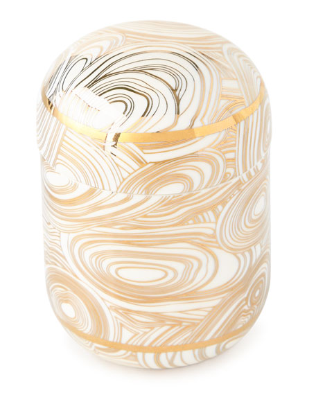 Jonathan Adler Malachite Covered Jar