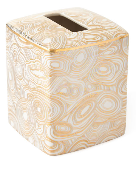 Jonathan Adler Malachite Tissue Box Cover