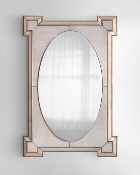 John-Richard Collection Rectangular Mirror with Oval Center