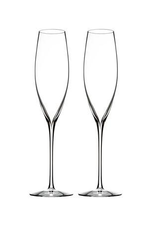 Waterford Crystal Elegance Champagne Flutes, Set of 2