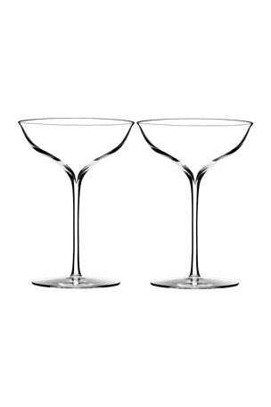 Waterford Crystal Elegance Champagne Coupe, Set of 2