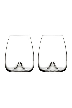 Waterford Crystal Elegance Stemless Wine Glasses, Set of 2