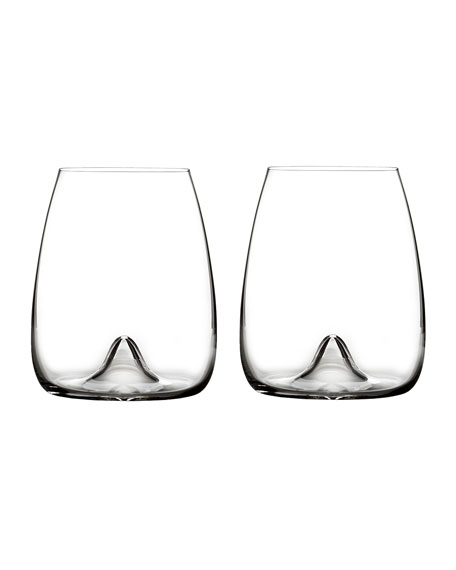 Waterford Crystal Elegance Stemless Wine Glasses, Set of