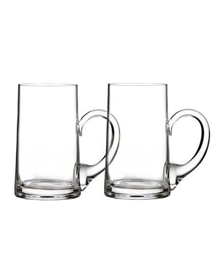 Elegance Beer Mugs, Set of 2