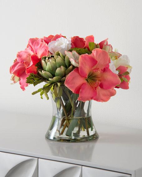 John-Richard Collection Sweet Peach Faux Floral