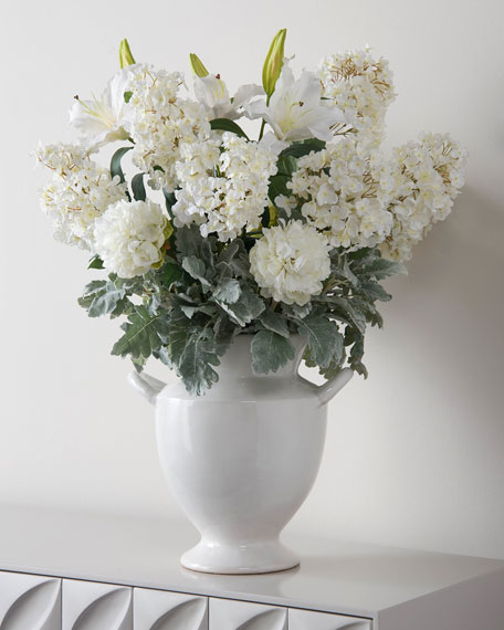 John-Richard Collection Dusty Dawn Hydrangeas Faux Floral